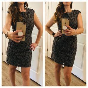 Benetton Gray Floral Lace Dress/ NWOT/Size M